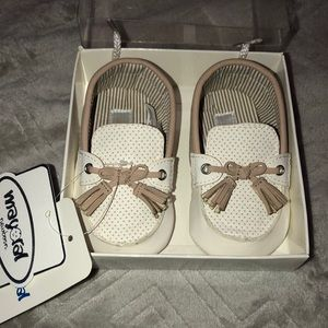 Ivory baby boy shoes